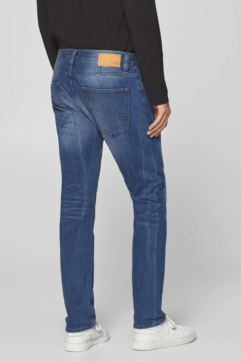 Vintage wash jeans, 100% cotton, BLUE MEDIUM WASH, detail image number 1