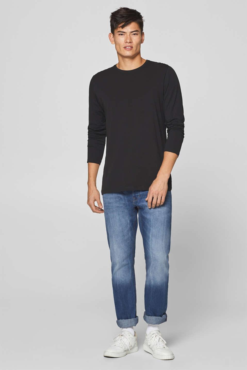 Vintage wash jeans, 100% cotton, BLUE MEDIUM WASH, detail image number 4
