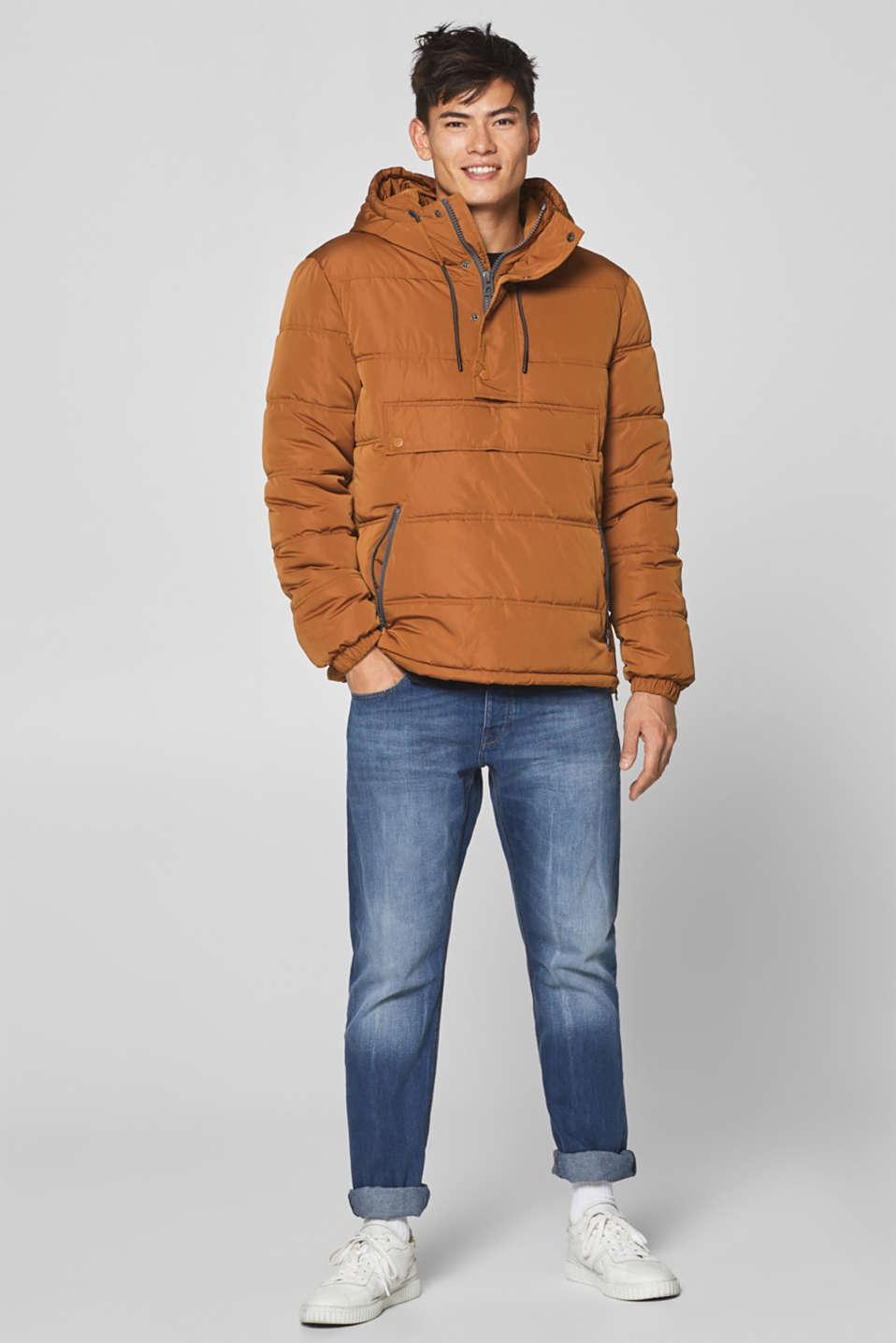 Vintage wash jeans, 100% cotton, BLUE MEDIUM WASH, detail image number 2