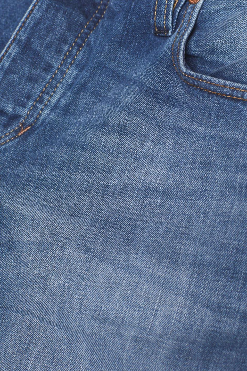 Vintage wash jeans, 100% cotton, BLUE MEDIUM WASH, detail image number 5