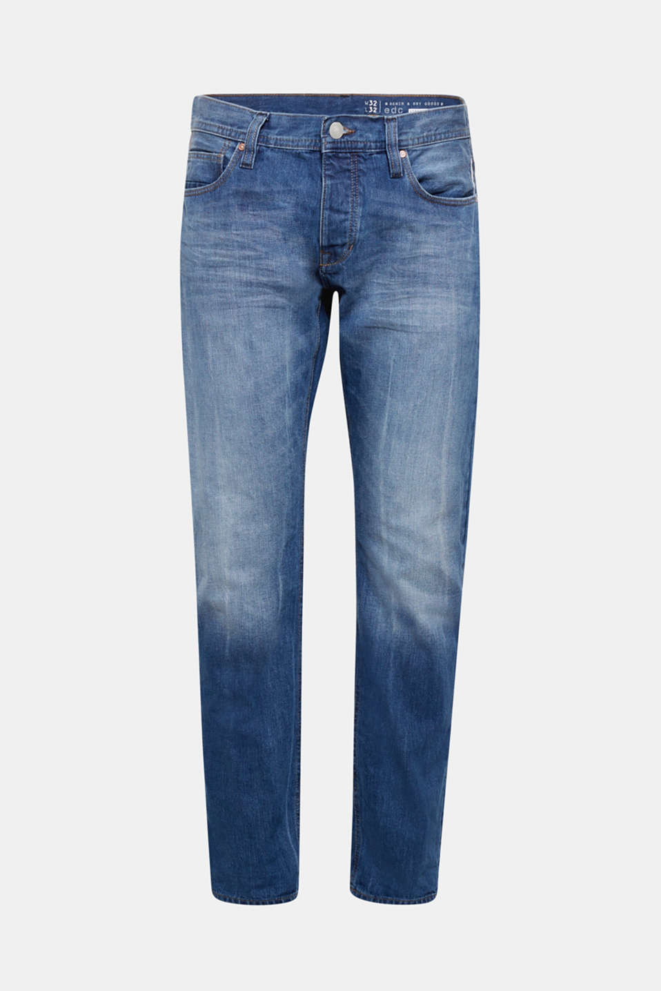 edc - Jeans mit Used-Waschung, 100% Baumwolle
