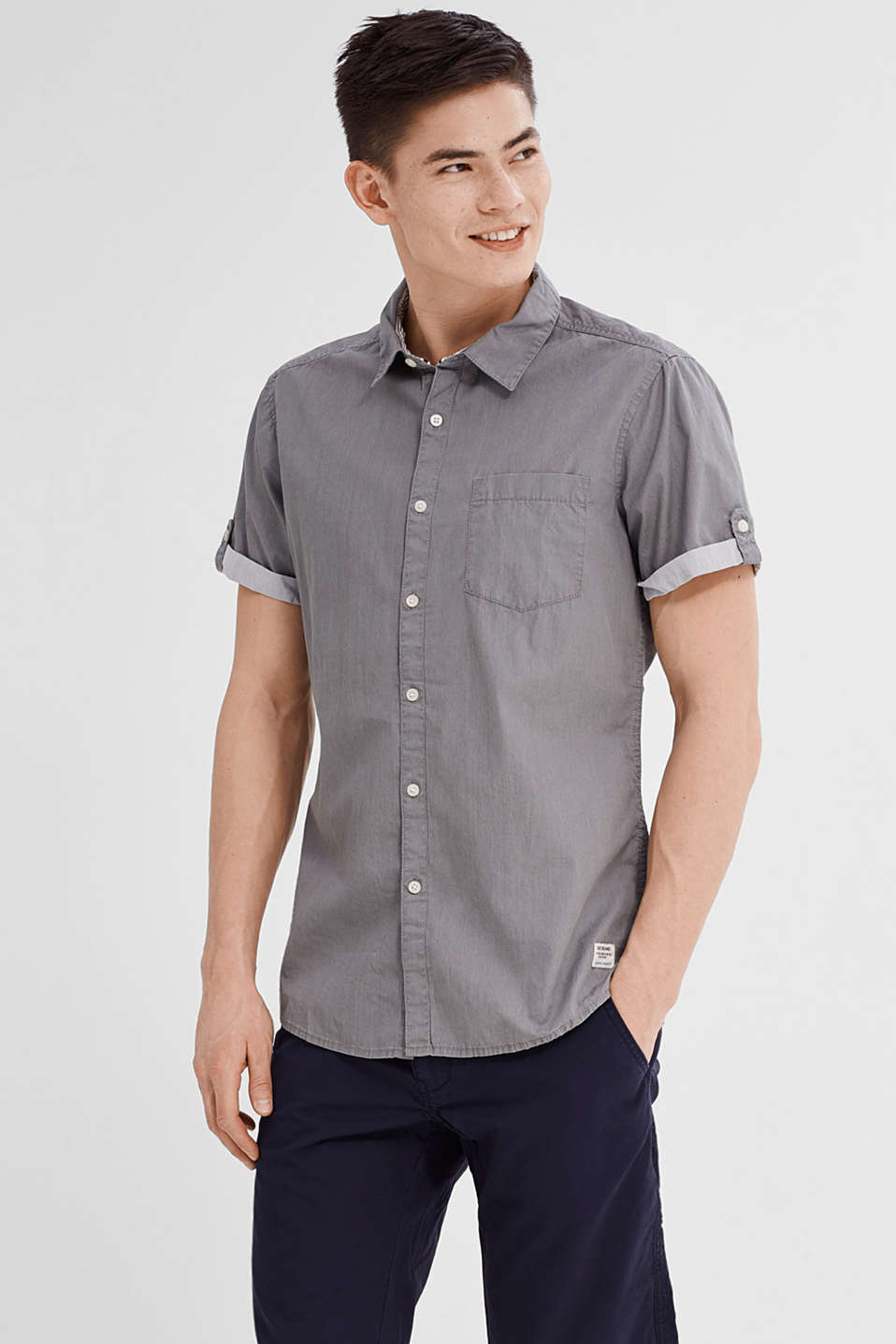 Short sleeve shirt in 100% cotton