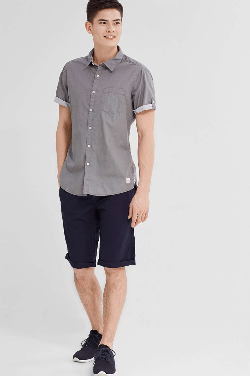 edc - Short sleeve shirt in 100% cotton