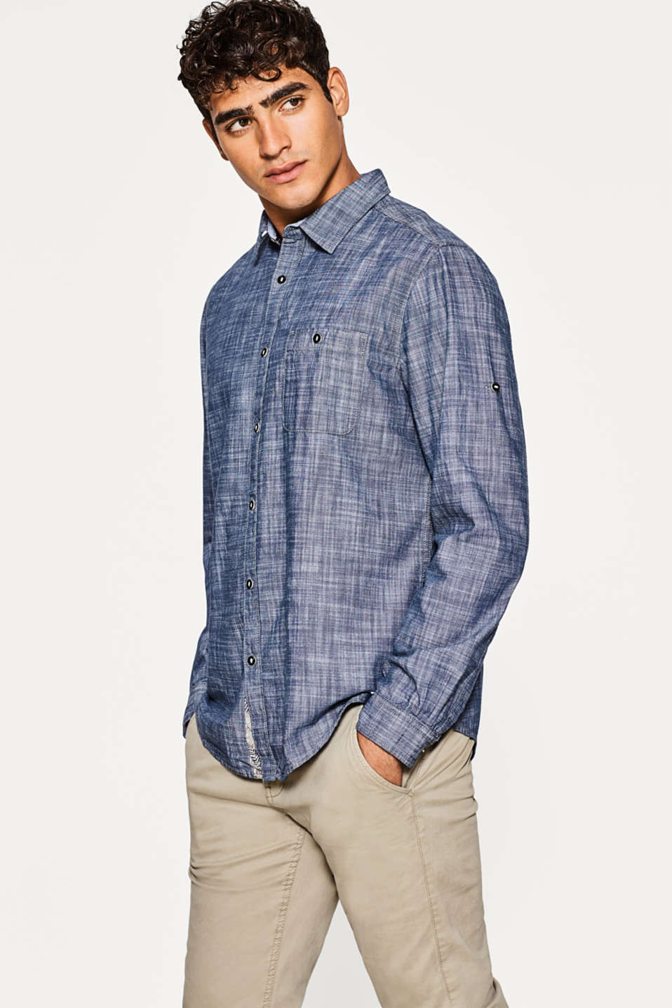 edc - Cotton chambray shirt