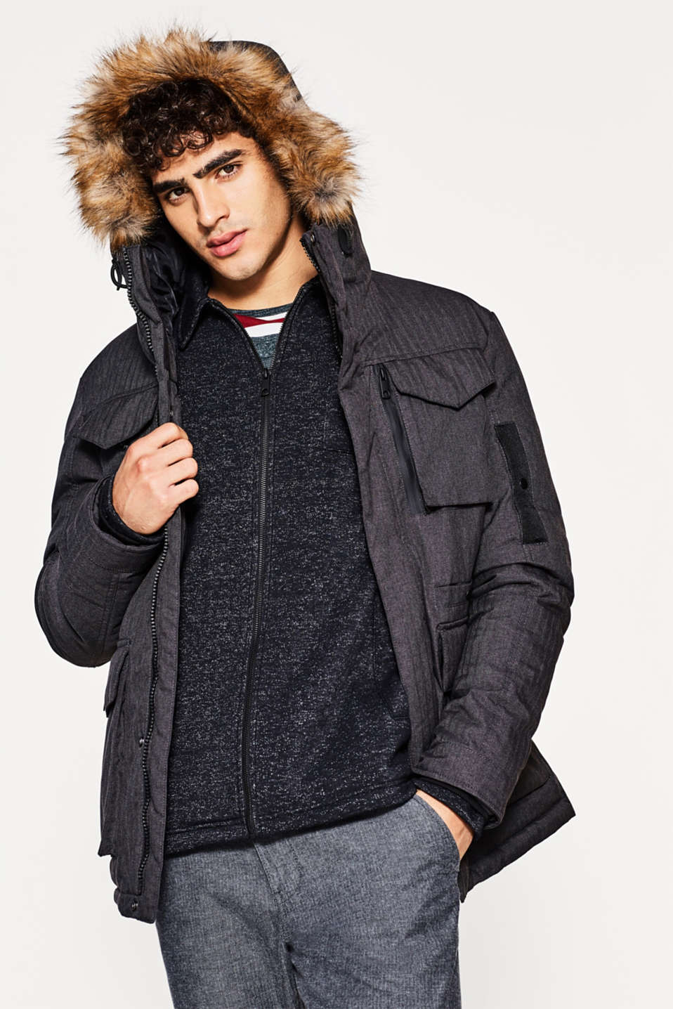 edc - Field jacket with a hood