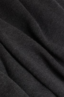 Fine knit cotton jumper, DARK GREY, detail