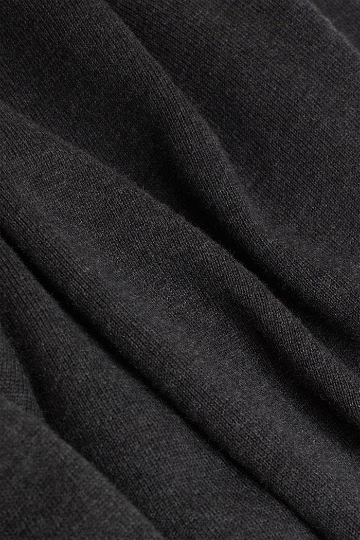 Fine knit cotton jumper, DARK GREY, detail image number 4
