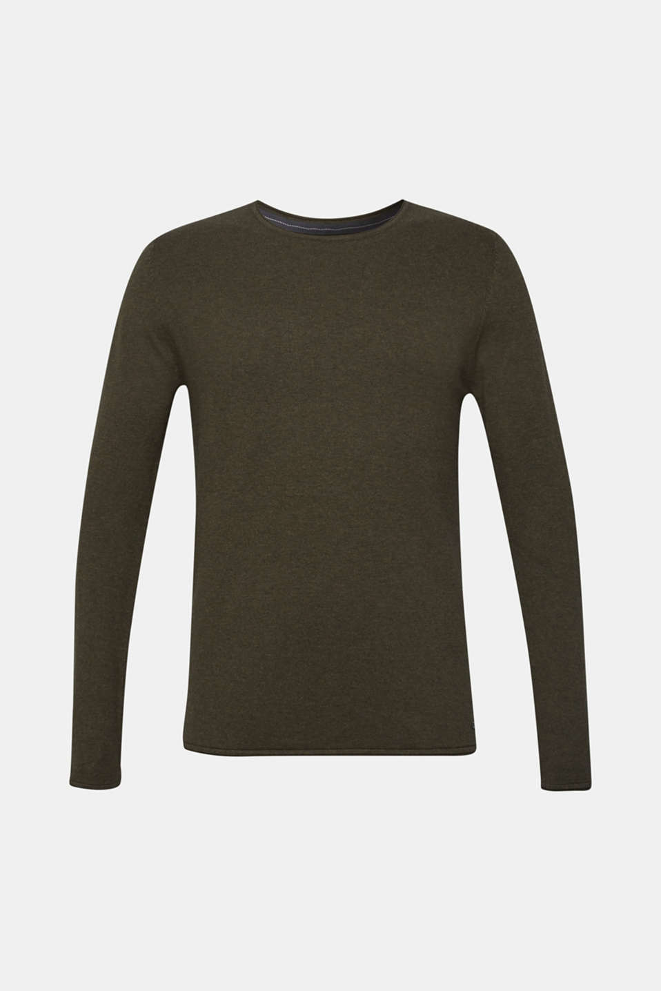 Fine knit cotton jumper, KHAKI GREEN, detail image number 5
