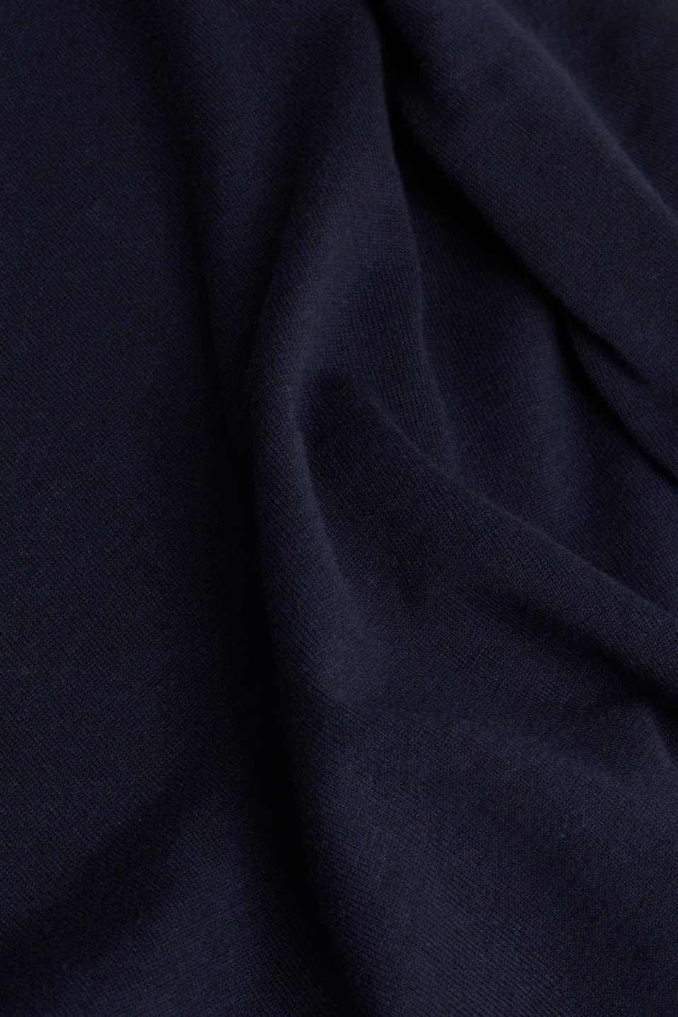 Fine knit cotton jumper, NAVY, detail image number 4