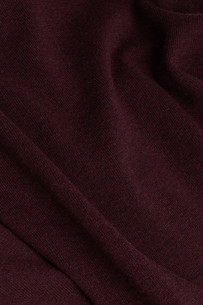 Feinstrick-Pullover aus Baumwolle , BORDEAUX RED, detail image number 4