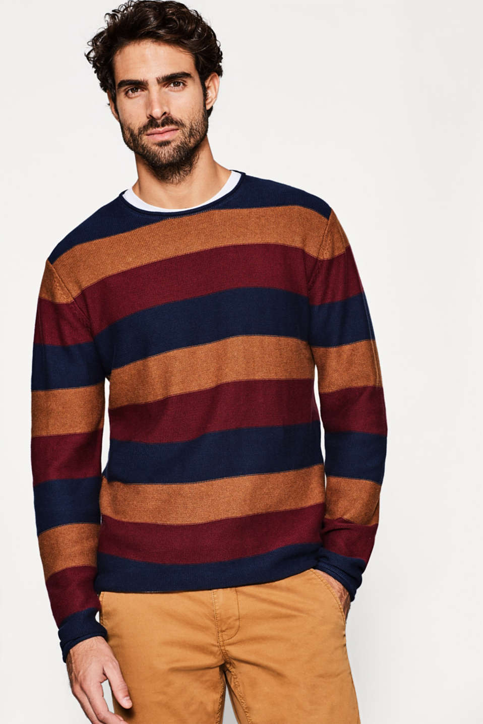 edc - Knitted jumper in pure cotton