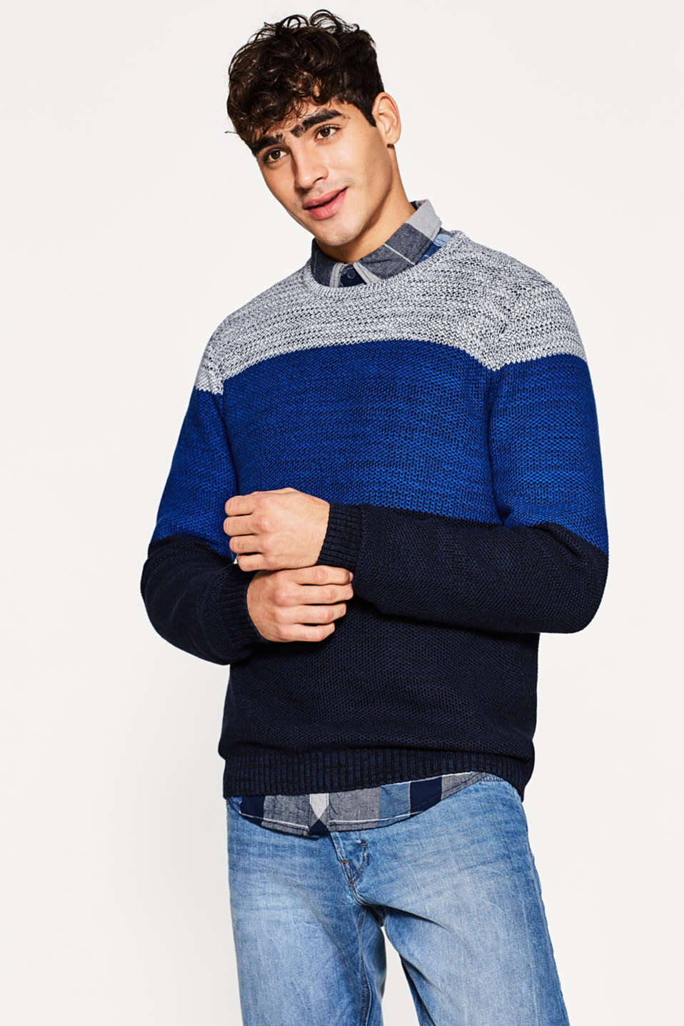 edc - Knitted jumper made of pure cotton
