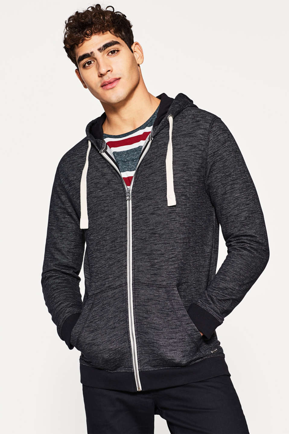 edc - Sweatshirt hoodie in 100% cotton