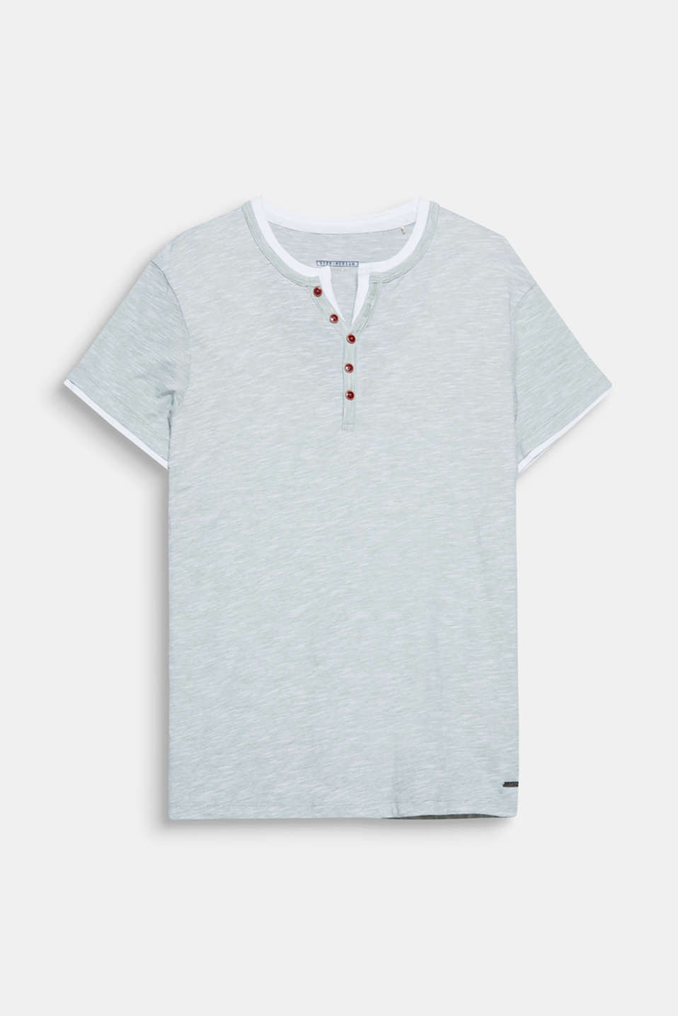 Dein Fashion Basic: Henley-Shirt im coolen Layer-Look, aus Jersey mit Baumwolle.