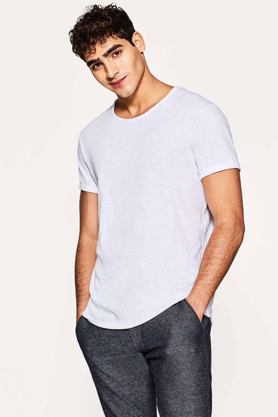 edc - Cotton jersey long T-shirt
