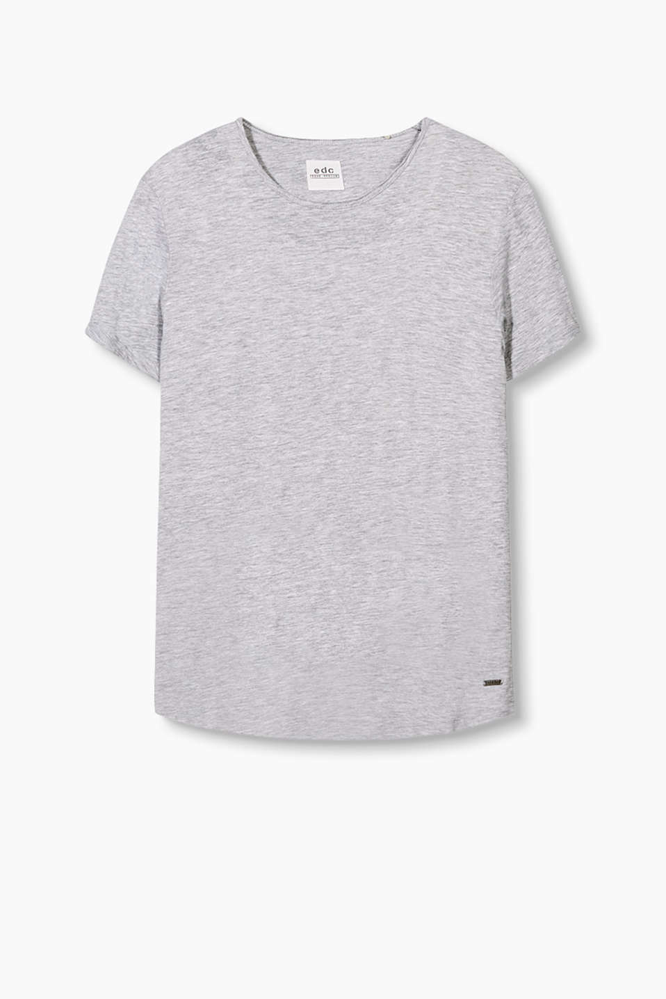 Your urban fashion basic: T-shirt in a trendy long cut made of soft cotton jersey