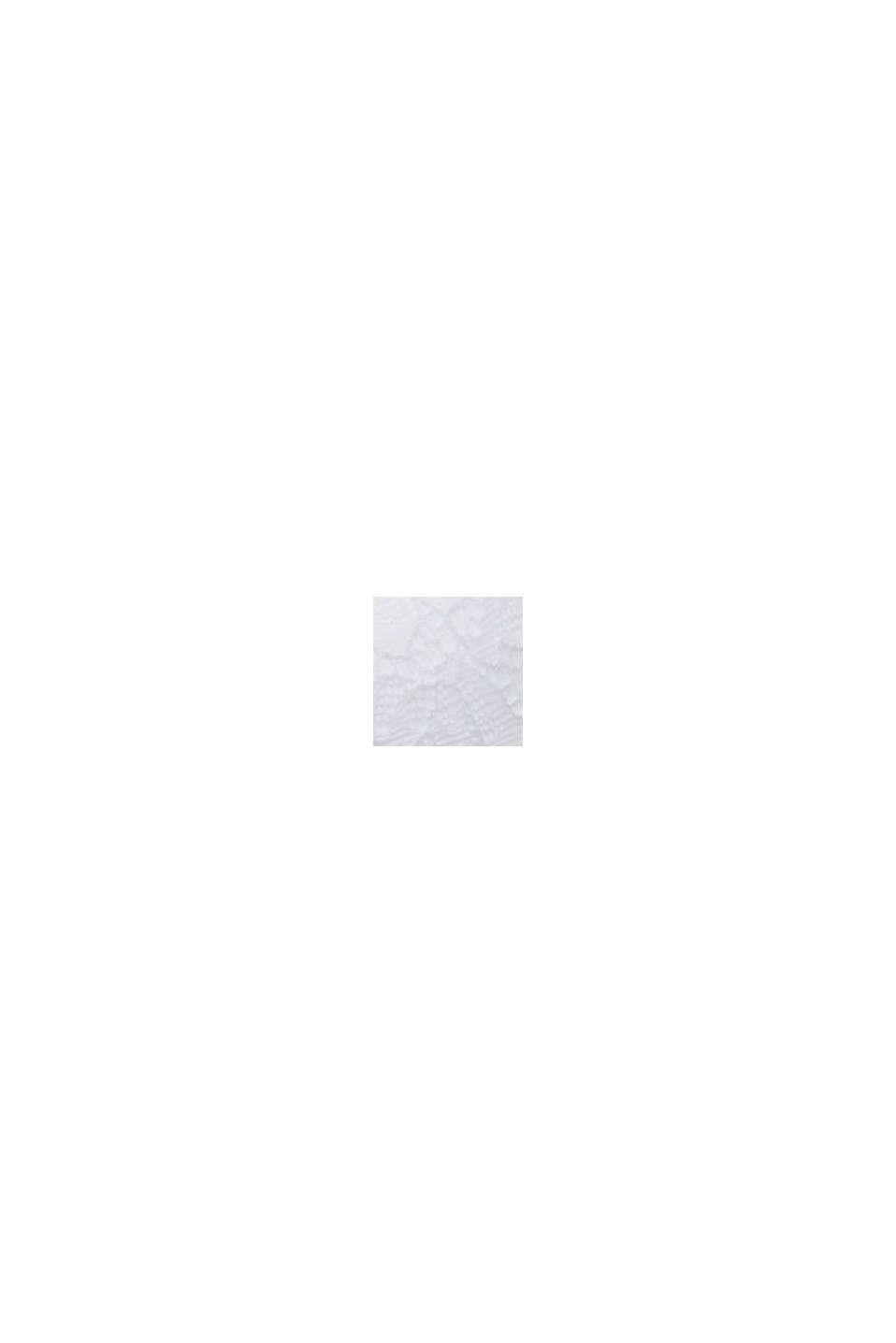 Gewatteerde beugel-bh van kant, WHITE, swatch