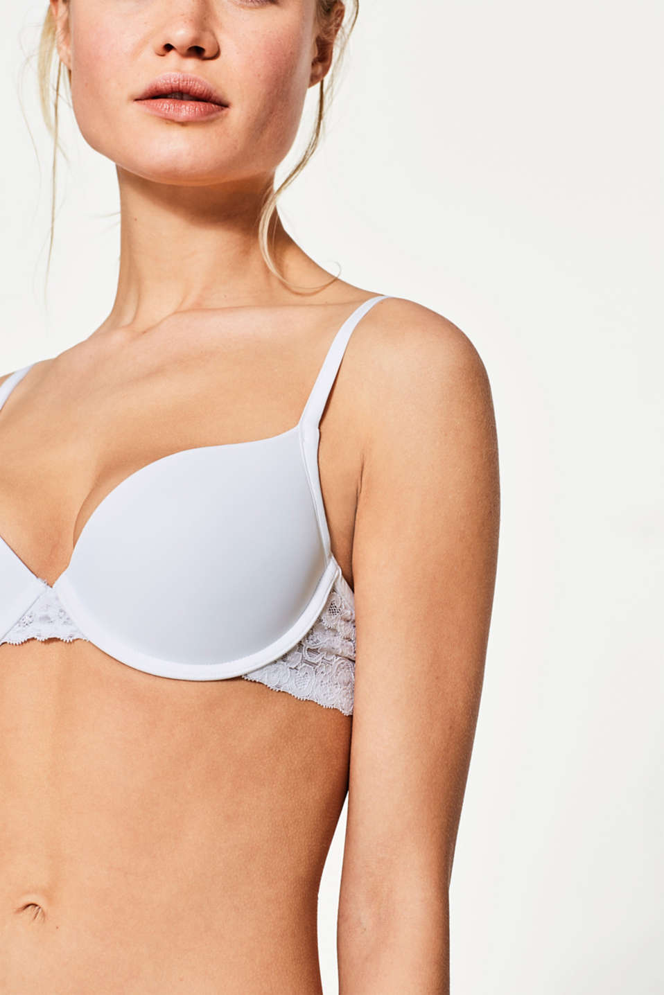 Push-up bra in delicate lace, WHITE, detail image number 2