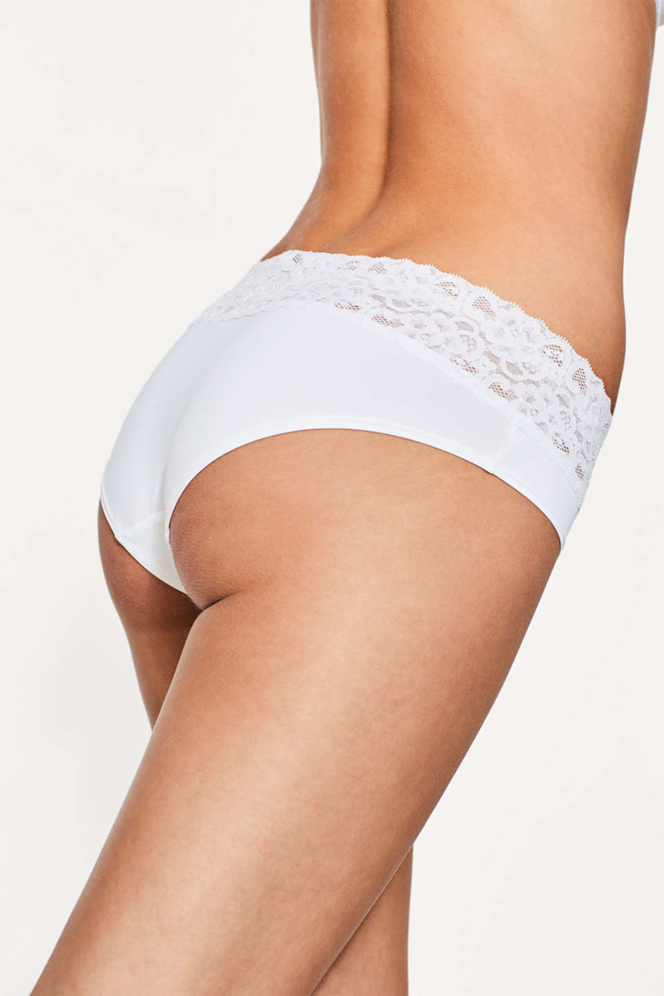 Basic microfibre hipster shorts, WHITE, detail image number 3