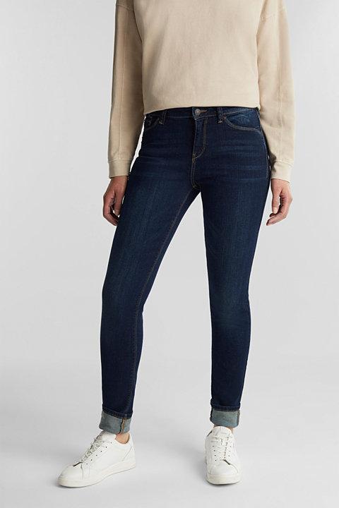 Stretch organic cotton blend jeans