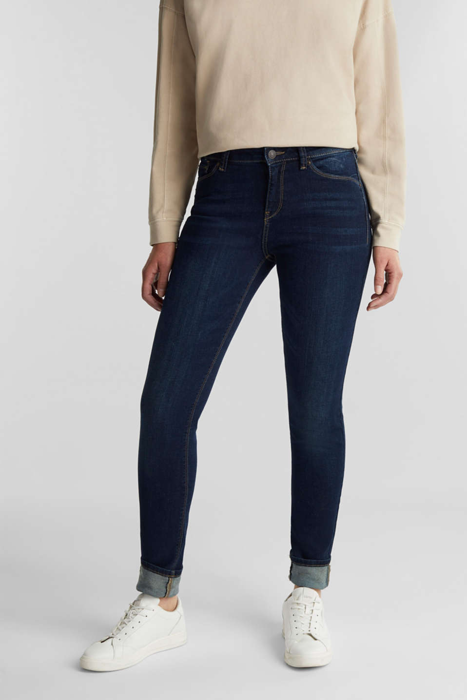 Stretch organic cotton blend jeans