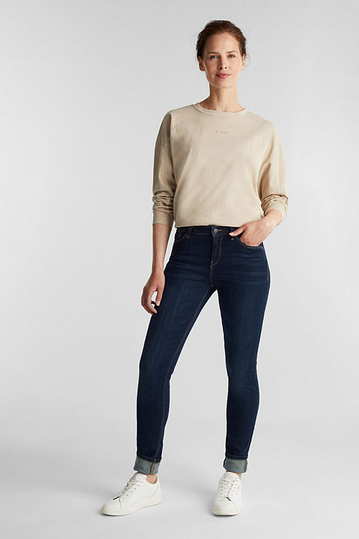 Stretch-Denim mit Organic Cotton