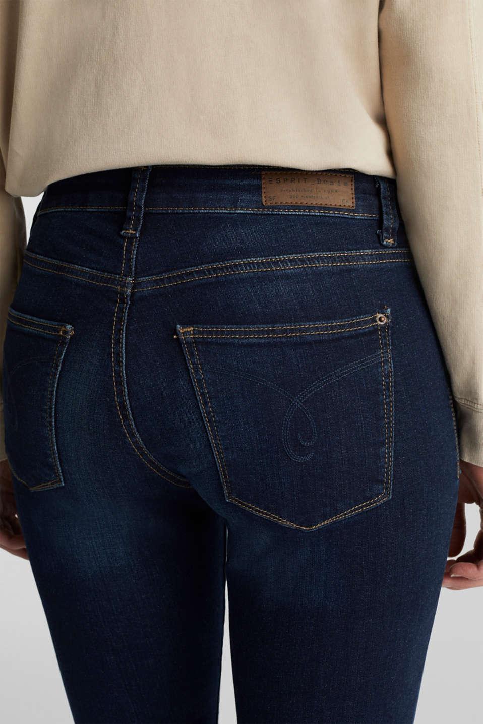 Stretch organic cotton blend jeans, BLUE DARK WASH, detail image number 2