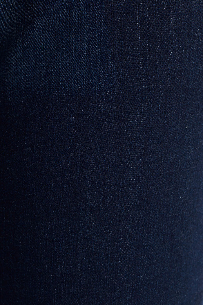 Stretch jeans with organic cotton, BLUE DARK WASHED, detail image number 4