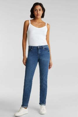 Stretch jeans with organic cotton, BLUE MEDIUM WASH, detail