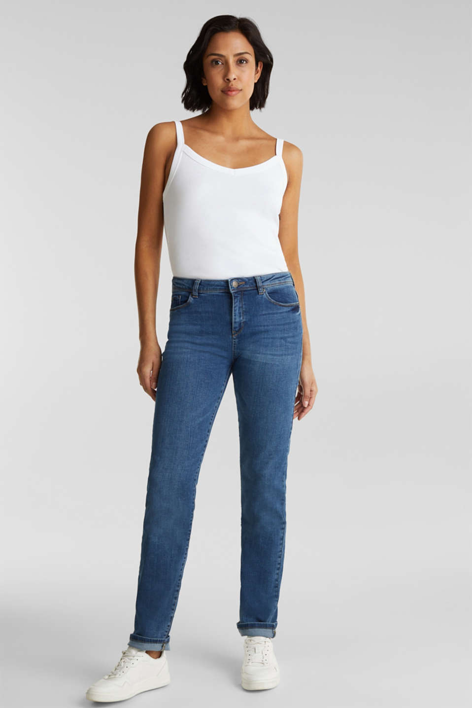 Esprit - Stretch-Denim mit Organic Cotton