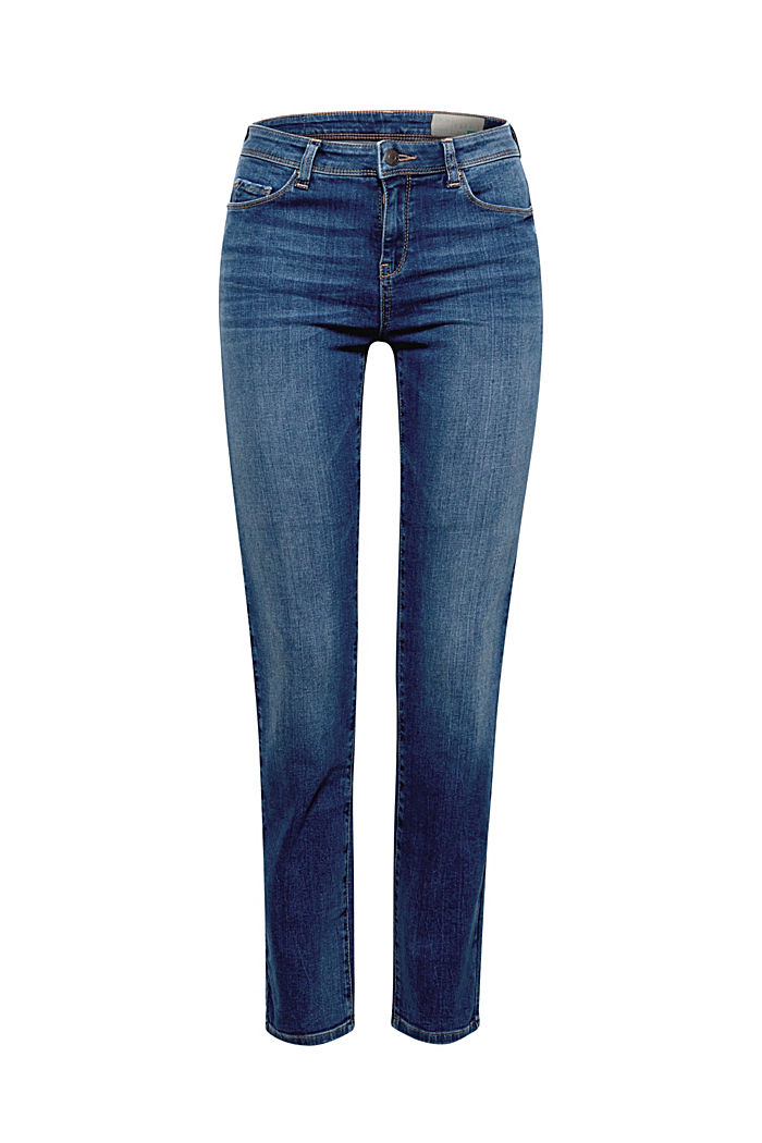 Stretch-Denim mit Organic Cotton, BLUE MEDIUM WASHED, detail image number 5