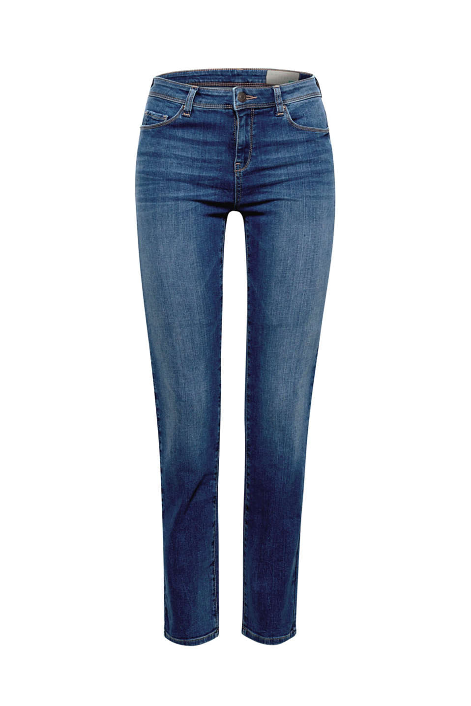 Stretch jeans with organic cotton, BLUE MEDIUM WASH, detail image number 5
