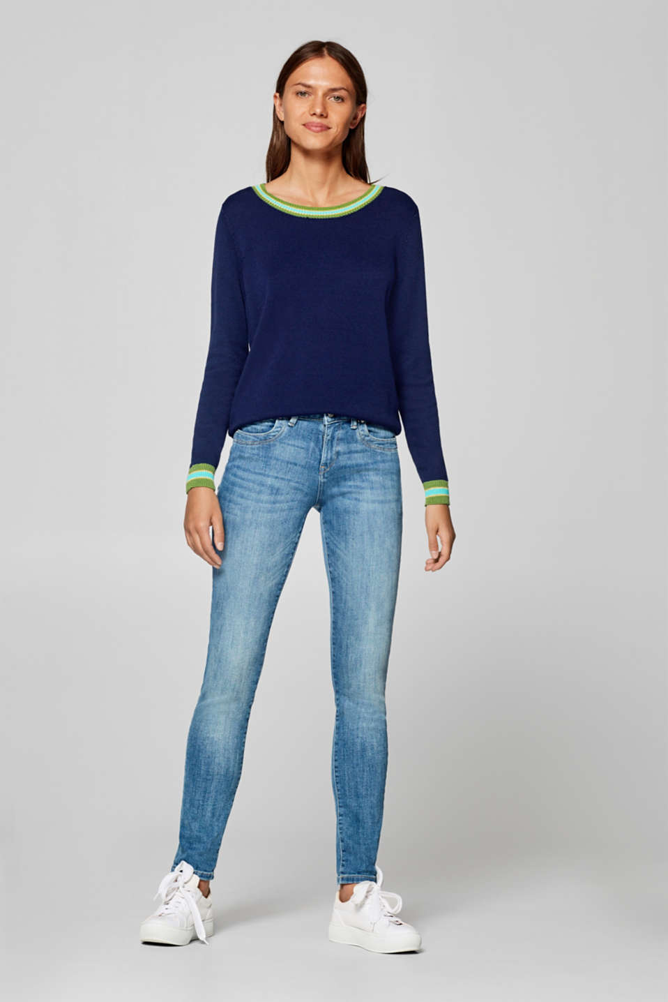 Esprit - Jeans met veel stretch en organic cotton