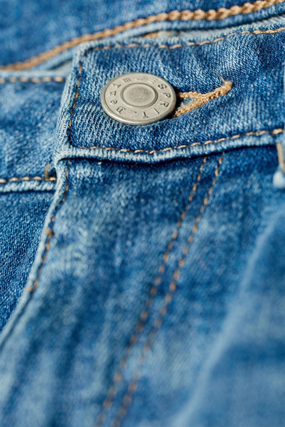 Super stretch jeans with organic cotton, BLUE MEDIUM WASH, detail image number 4