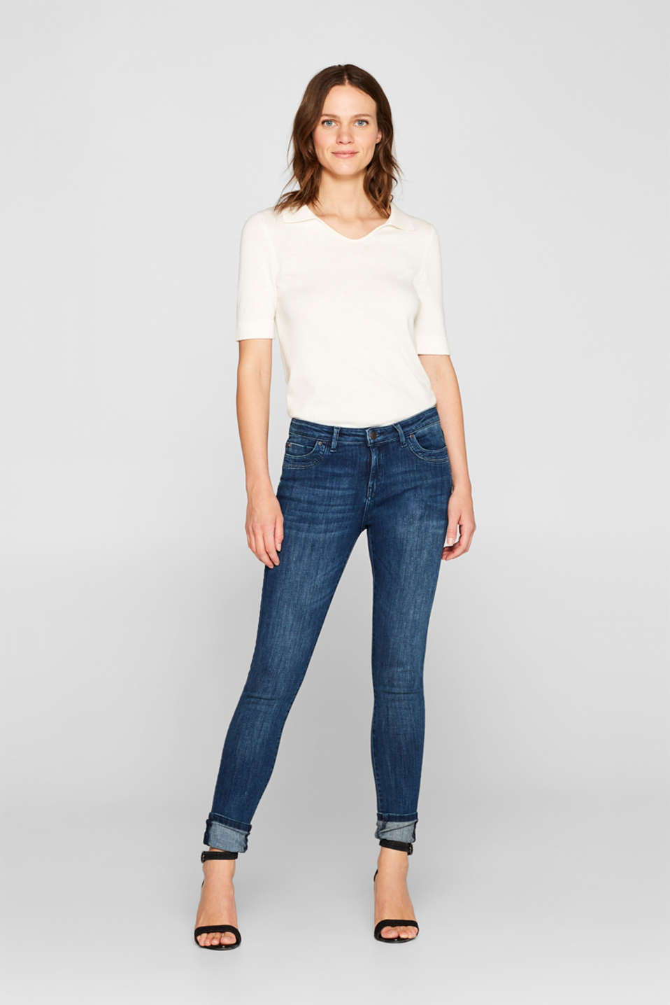 Super stretch jeans in organic cotton