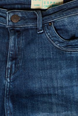 Super stretch jeans in organic cotton, BLUE DARK WASH, detail