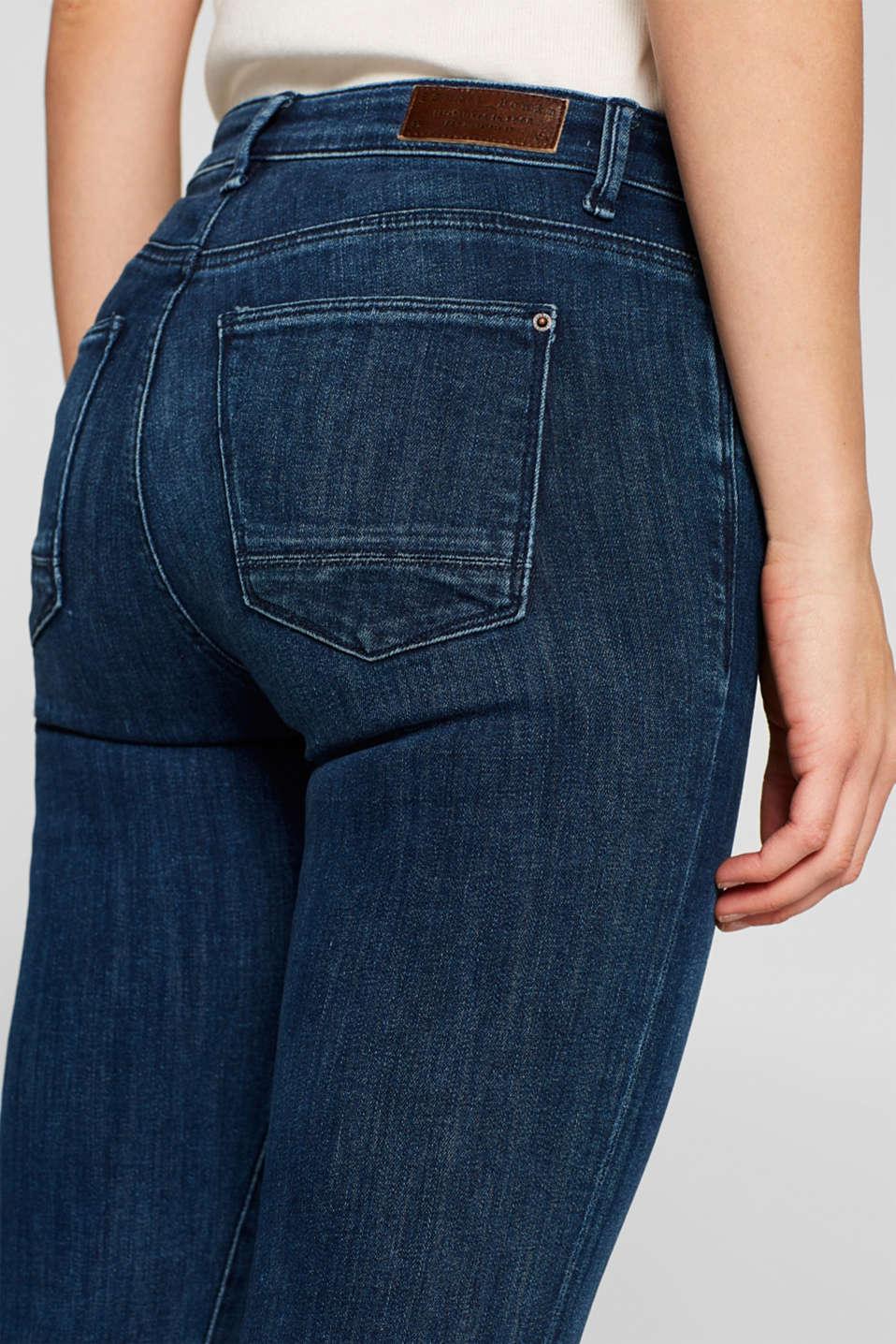 Super stretch jeans in organic cotton, BLUE DARK WASH, detail image number 6