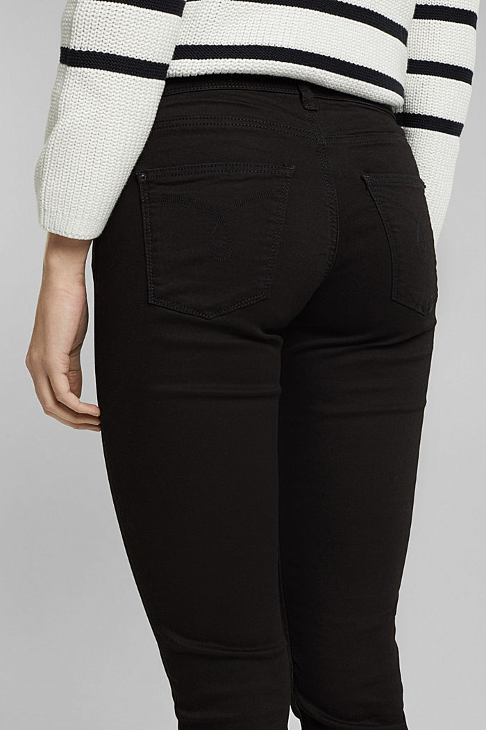 Stretch jeans containing organic cotton, BLACK, detail image number 2