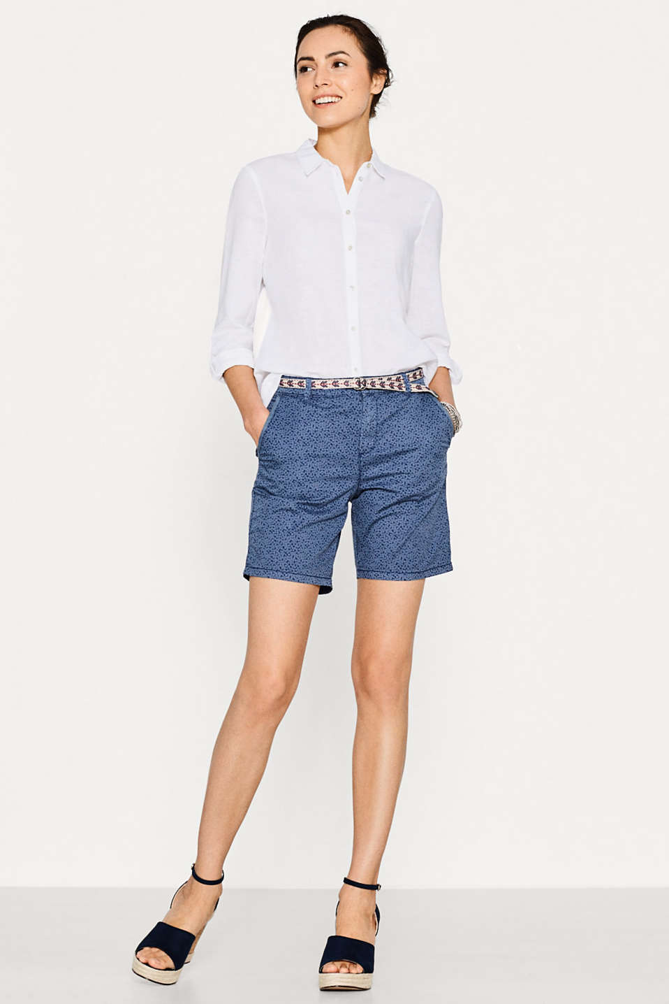 Esprit - Short super doux en coton stretch