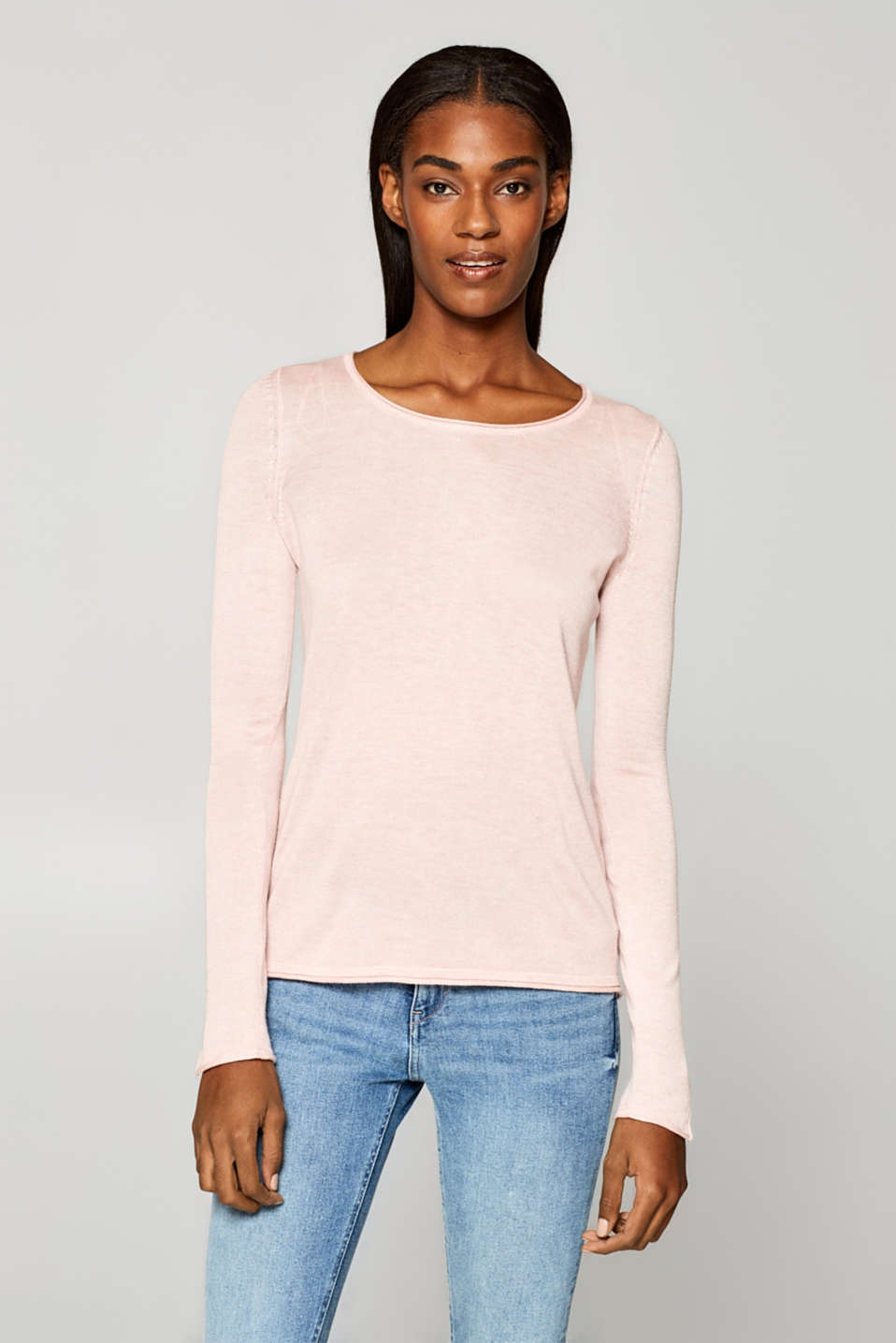Esprit - Fine knit jumper with beautiful details