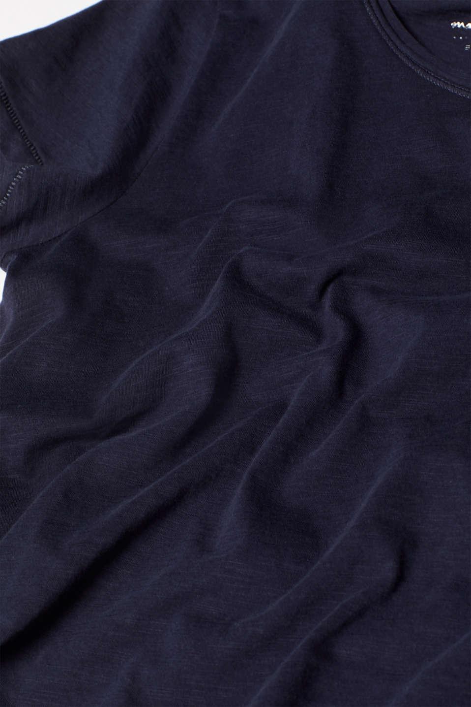 Slub jersey T-shirt in 100% cotton, NAVY, detail image number 4