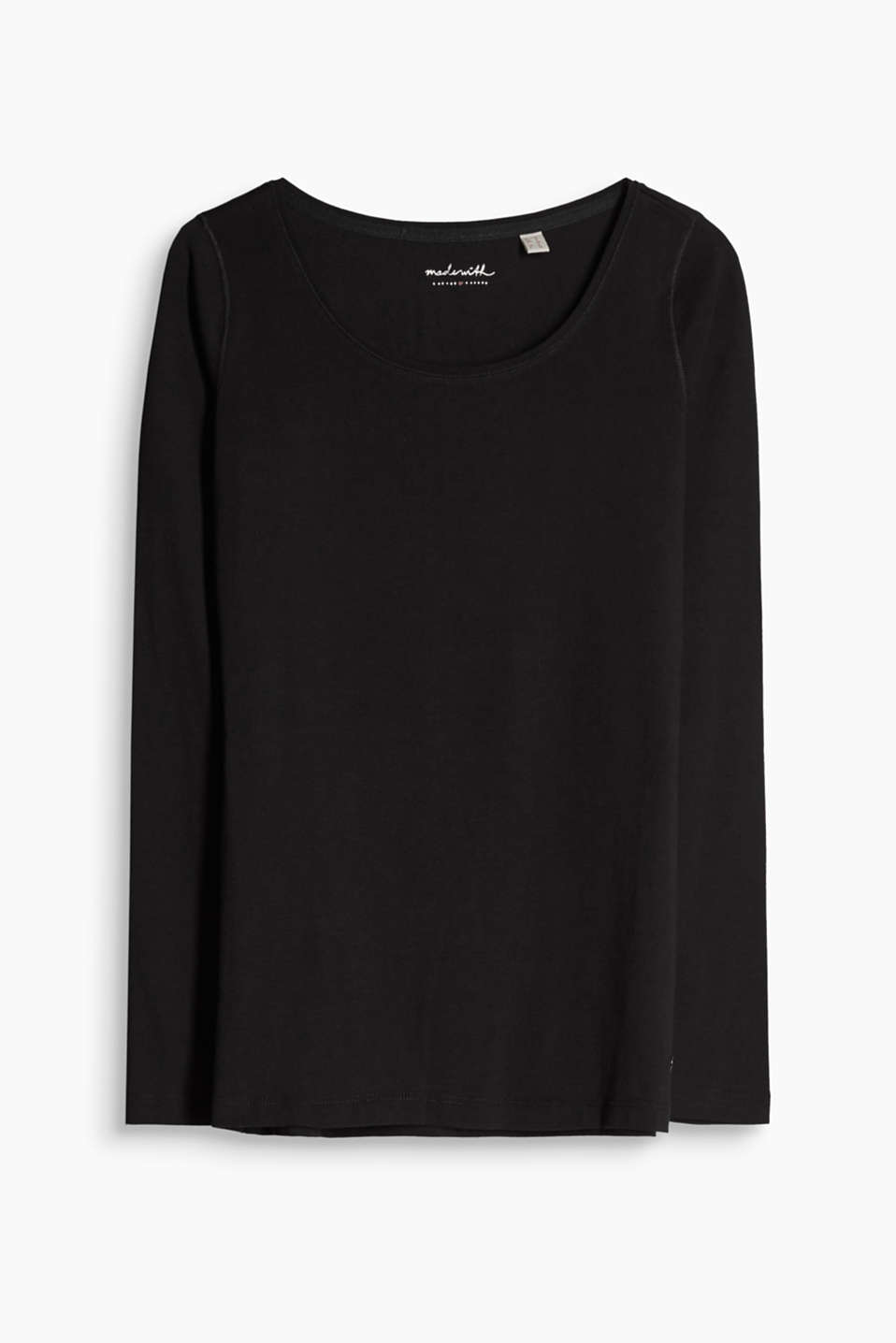 Esprit - Soft long sleeve top in stretch cotton