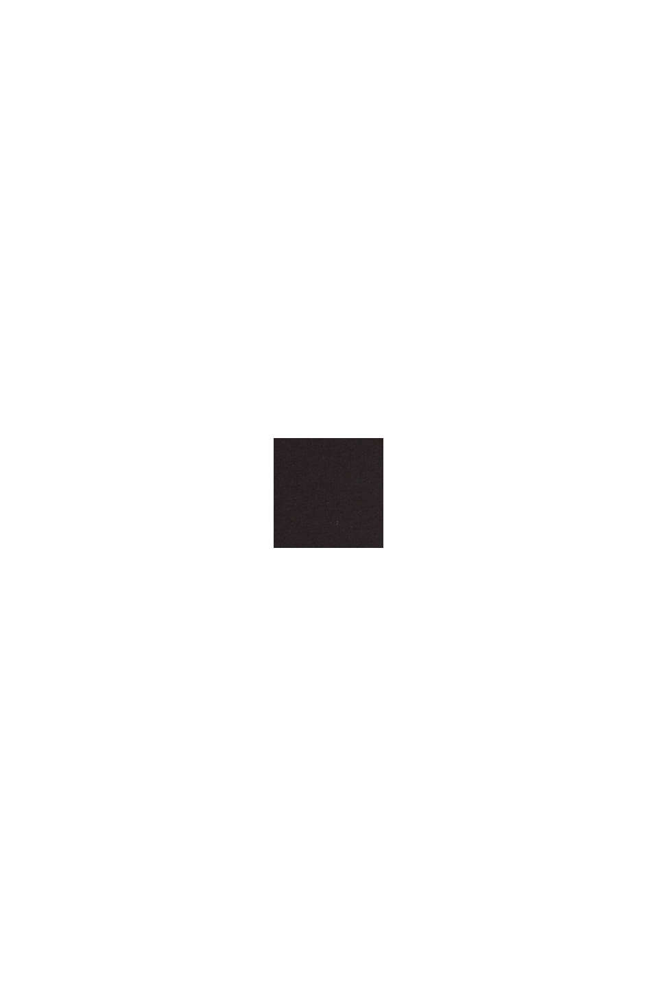 Basic-Top aus Baumwoll-Stretch, BLACK, swatch