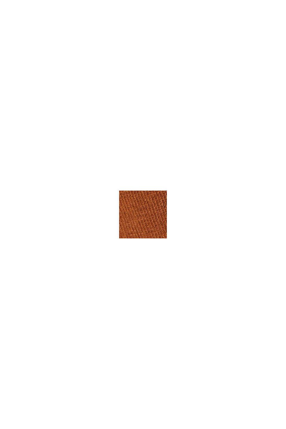 Basic-Top aus Baumwoll-Stretch, TOFFEE, swatch