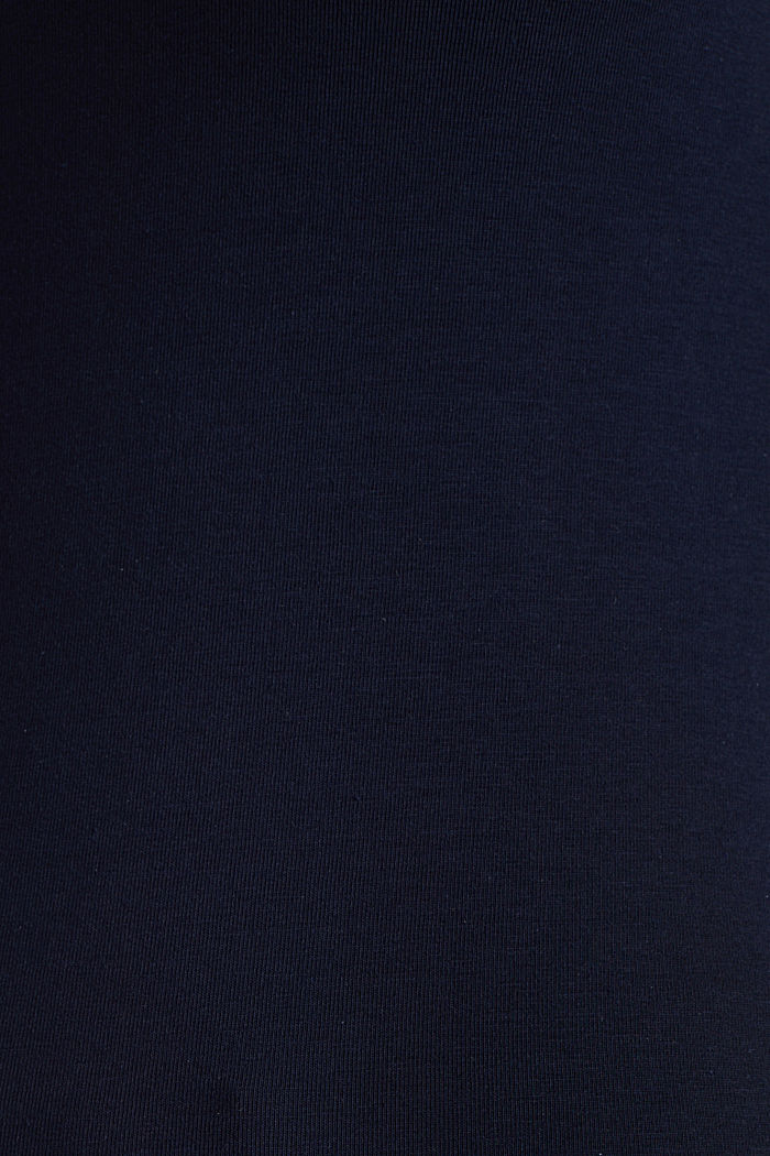 Basic top in stretch cotton, NAVY, detail image number 2
