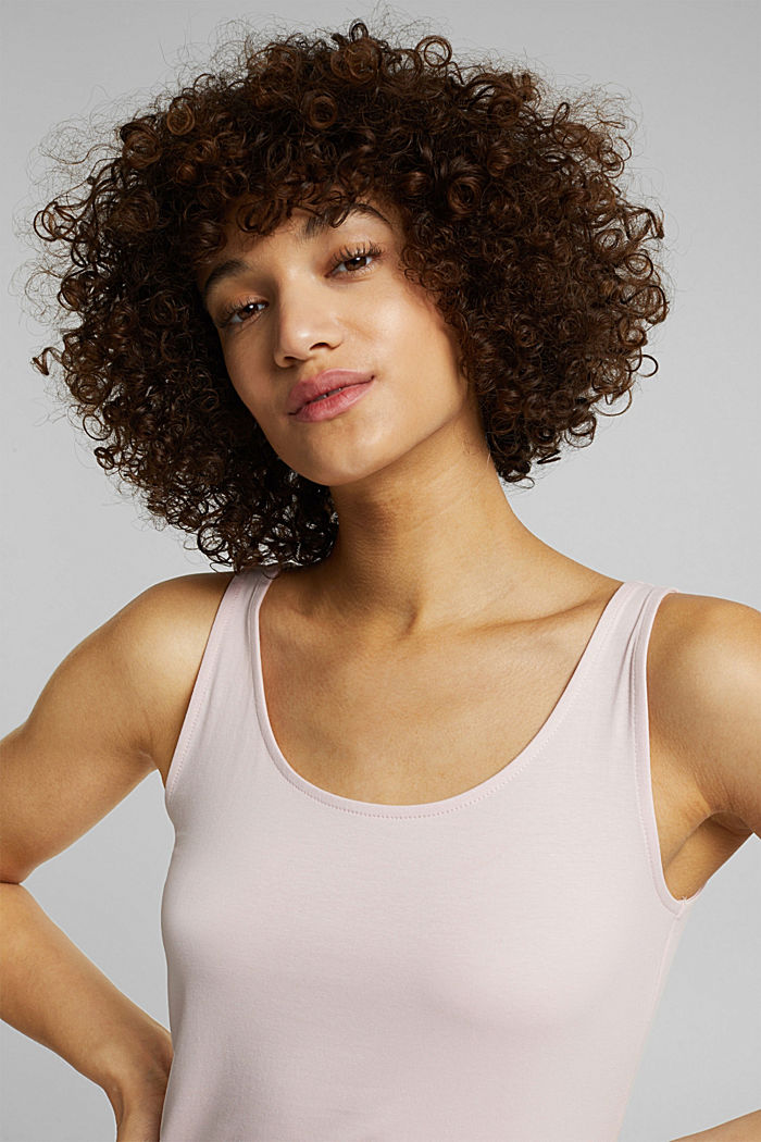 Basic top in stretch cotton, LIGHT PINK, detail image number 5