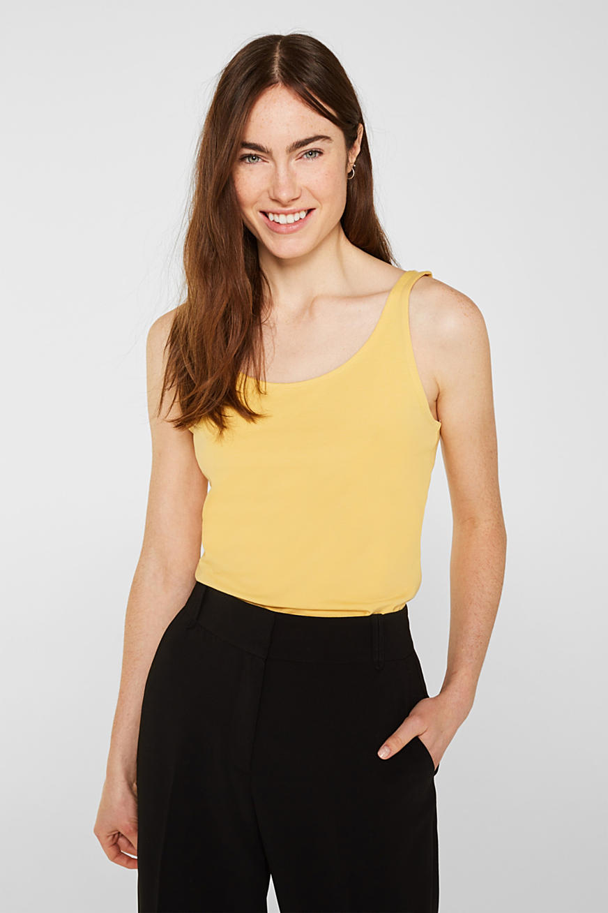 Basic top in stretch cotton