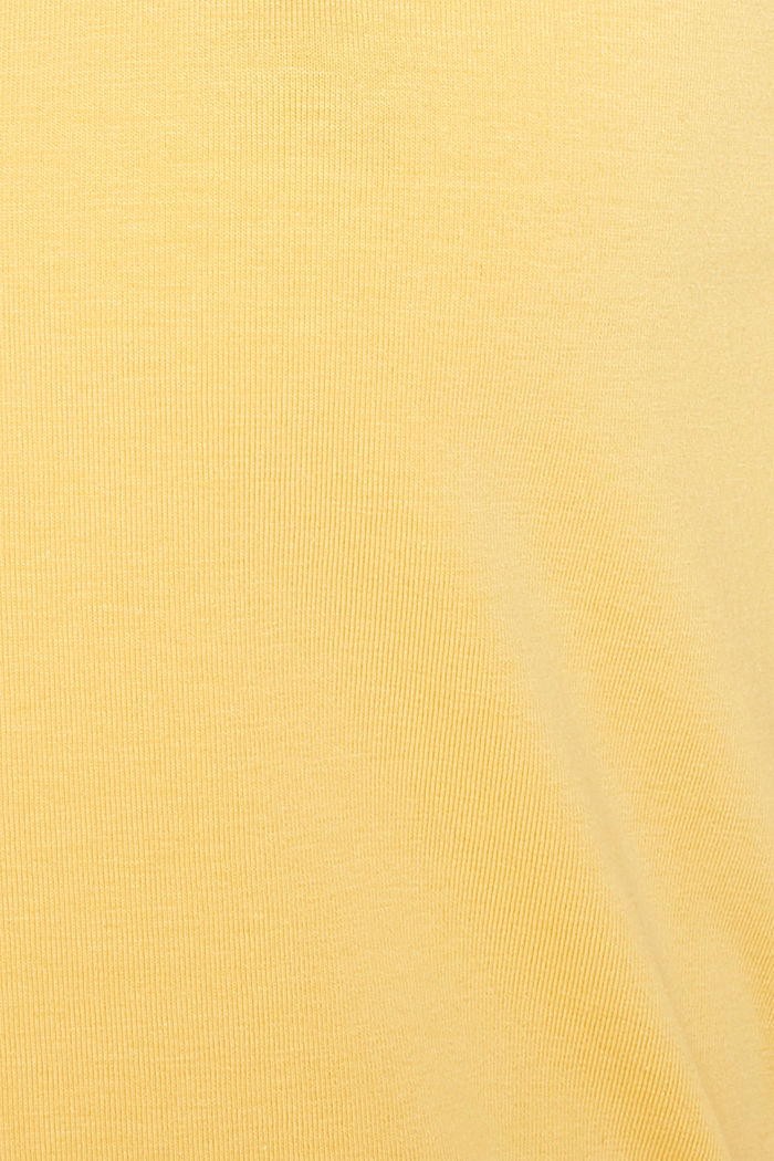Basic top van katoen met stretch, YELLOW, detail image number 4