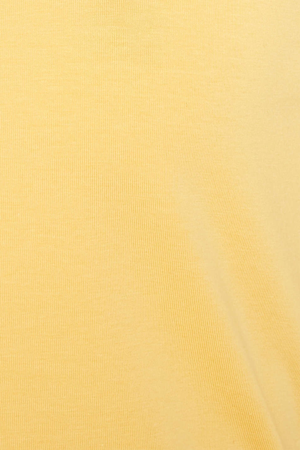 Basic top in stretch cotton, YELLOW 4, detail image number 4