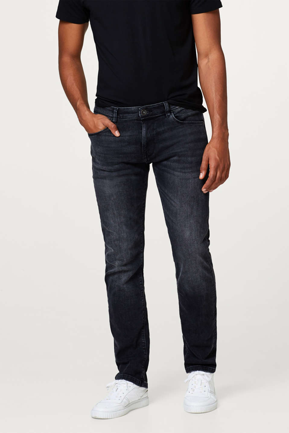 Esprit - Organic Cotton-Denim mit Super-Stretch
